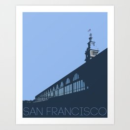 Ferry Building from the dock San Francisco Art Print