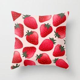 Strawberrilicious Pattern Throw Pillow