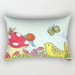 Florida Summer Portrait Rectangular Pillow