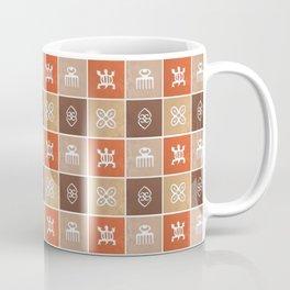 Ethnic african pattern with Adinkra simbols Coffee Mug