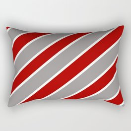 TEAM COLORS ONE RED,GRAY WHITE Rectangular Pillow