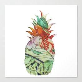 Pineapple fabric Canvas Print