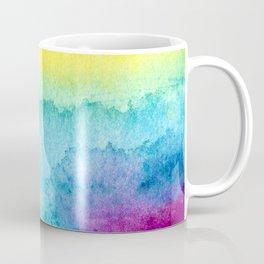 Modern neon yellow blue hand painted watercolor Coffee Mug