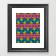 Triangular Entropy Framed Art Print
