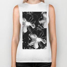 Black Flowers Biker Tank