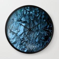 Geometric Frost Wall Clock