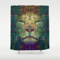lion king Shower Curtains featuring Lion King by Zandonai
