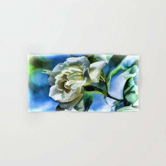 Summer White Rose  Hand & Bath Towel