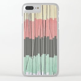Stripes And Textures Clear iPhone Case