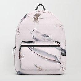Cosmic Feathers Pink Dust Backpack