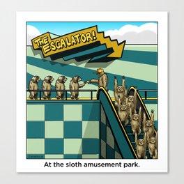 Sloth Amusement Park Canvas Print
