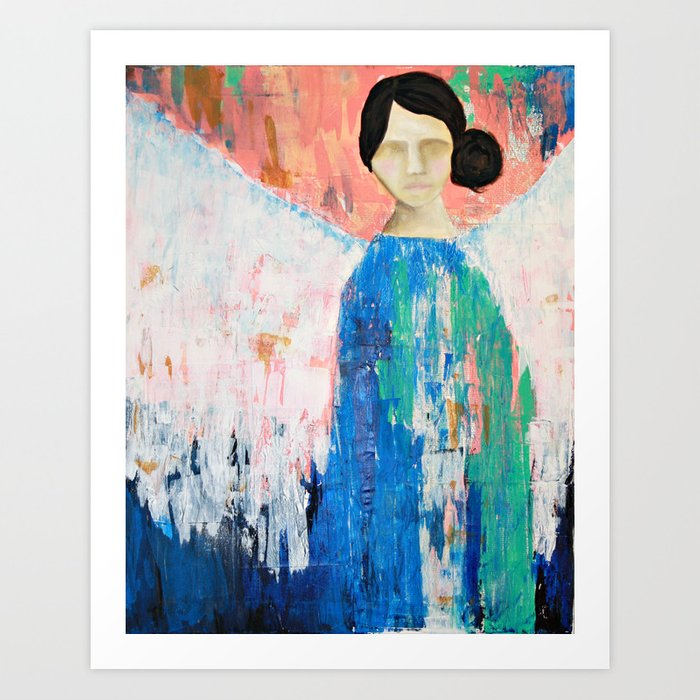 Angel of Spring and Grace Art Print