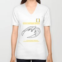 battlestar V-neck T-shirts featuring Cylon Raider Service and Repair Manual by adho1982