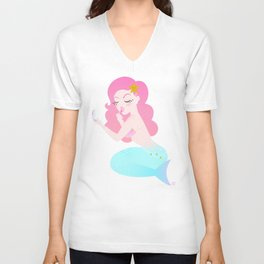 Mermaid Primp Unisex V-Neck