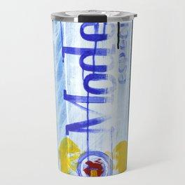 """Modelo Especial (2010), 17"""" x 27"""", acrylic on gesso on chipboard Travel Mug"""