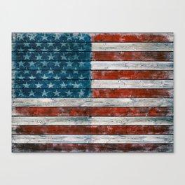 Vintage American Flag Canvas Print