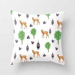 Xmas Deer Pattern Throw Pillow