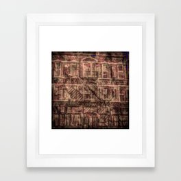 brick and iron Framed Art Print