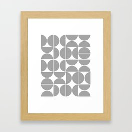 Mid Century Modern Geometric 04 Grey Framed Art Print