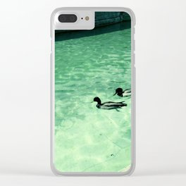 Ducks Day Out Clear iPhone Case