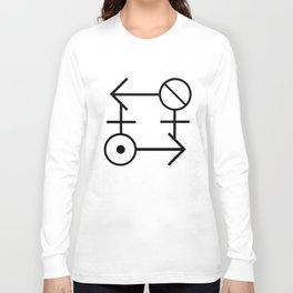 """Gender Ouroboros"" TRON MAXIMUM  Insignia (Dark) Long Sleeve T-shirt"
