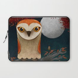 Deep in the Night, Owl Eyes Bright Laptop Sleeve