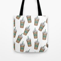 starbucks Tote Bags featuring Starbucks by eARTh