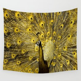 yellow art Wall Tapestry