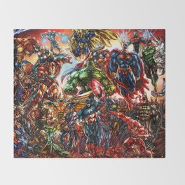 Super hero all Throw Blanket
