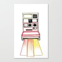 polaroid Canvas Prints featuring Polaroid by Ilariabp.art