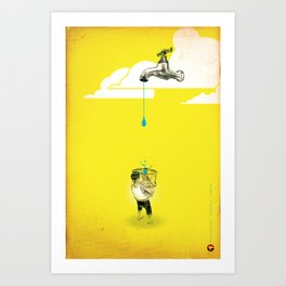 "Glue Network Print Series ""Water / Hygiene / Sanitation"" Art Print"