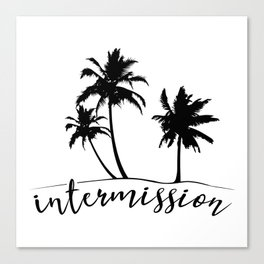 Intermission - On Holiday with Palm Trees Canvas Print