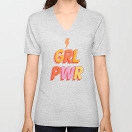 GRL PWR - GIRL POWER Unisex V-Neck