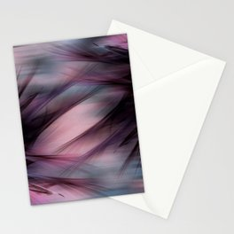 Soft Hazy Mauve Abstract Stationery Cards