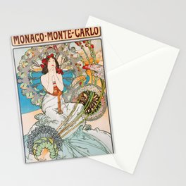 12,000pixel-500dpi - Alfons Mucha - Monaco, Monte Carlo - Digital Remastered Edition Stationery Cards