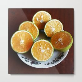Oranges with some imperfection Metal Print