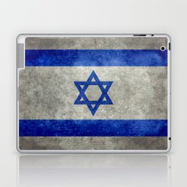 National flag of the State of Israel with distressed worn patina Laptop & iPad Skin