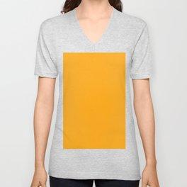 Dark Tangerine Orange Unisex V-Neck