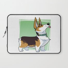 Lizbeth the Corgi Caricature Laptop Sleeve