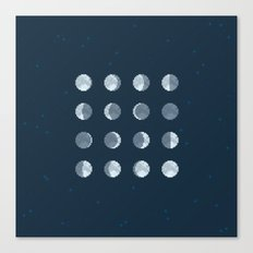 8bit Moon Phases Canvas Print