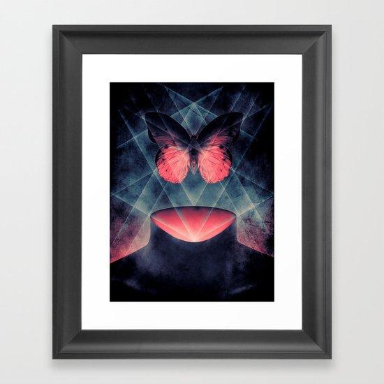 Beautiful Symmetry Butterfly Framed Art Print