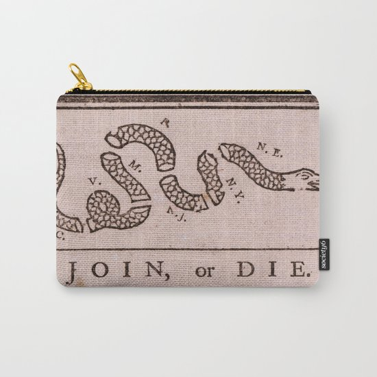 Original Join or Die Benjamin Franklin Political Cartoon by thearts