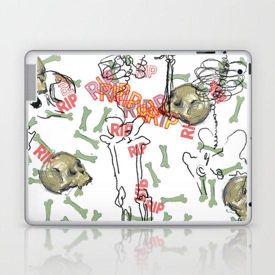 R.I.P. Funky skull joy death thing... I belive  Laptop & iPad Skin
