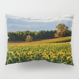 Summer sunflower field Pillow Sham