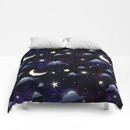 Crescent Moon Sky Comforters