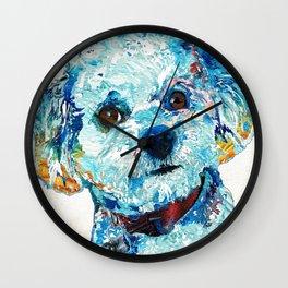 Small Cute Dog Art - Who Me? - Sharon Cummings Wall Clock