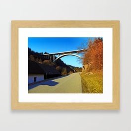 Mighty valley bridge | architecture photography Framed Art Print