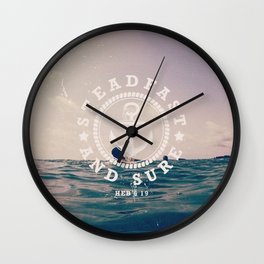 Steadfast And Sure Wall Clock