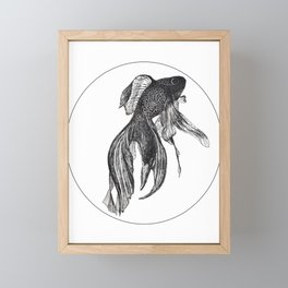 Black Fish Framed Mini Art Print