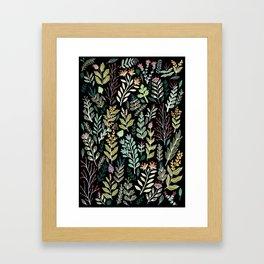 Dark Botanic Framed Art Print